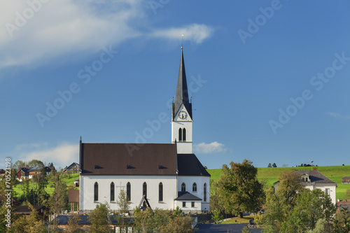 canvas print picture Kirche in Egg