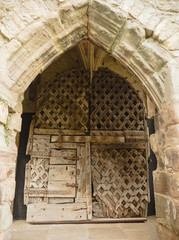 Europe's oldest castle door at Chepstow Castle