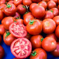 photo of  tomatoes. tomato background