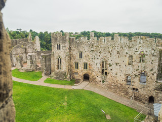 The ruins of Chepstow Castle, Wales