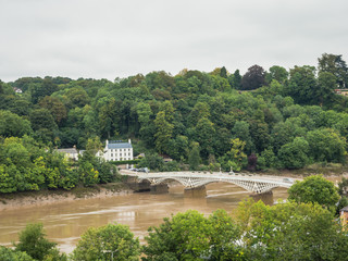 The bridge crossing the river Wye
