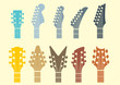 vector icon Guitar headstocks - 70524569