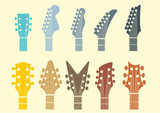 vector icon Guitar headstocks