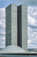 Brazil, Brasilia, view of the city - FILM SCAN