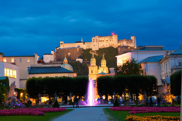 Blick auf die Festung Hohensalzburg, Salzburg, Österreich