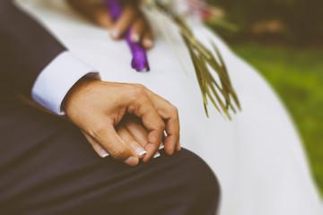 Close-up Shot a Couple Hands