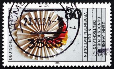 Postage stamp Germany 1983 German Flag