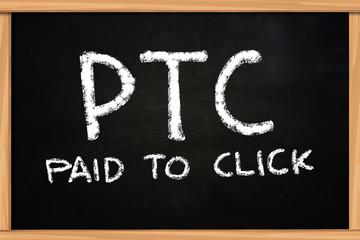 PTC Chalk Writing on Blackboard