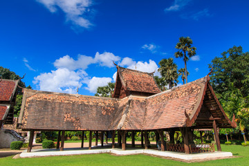 Old wooden church at Wat Lok Molee in Chiangmai of Thailand