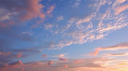 Clouds at Sunrise. Timelapse