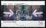 Postage stamp Germany 2002 More Tolerance poster