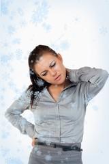 Portrait of a gorgeous businesswoman having back pain