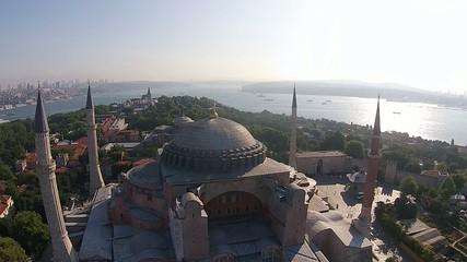 aerial istanbul turkey saint sophia hagia sophia ayasofya cami