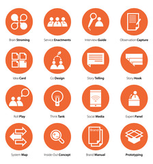Flat Icon Set of Business, Media and  Marketing