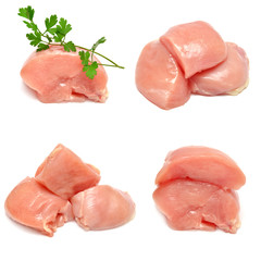 Collection of chicken with parsley