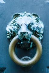 Maniglia di porta a forma testa di Leone, bussare
