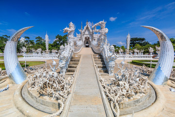 Wat Rong Khun in Chiangrai province of Thailand