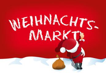 Weihnachtsmann schreibt Weihnachtsmarkt