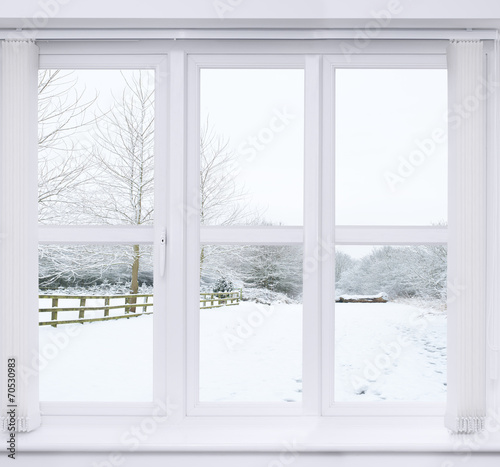Snow Scene Window - 70530983