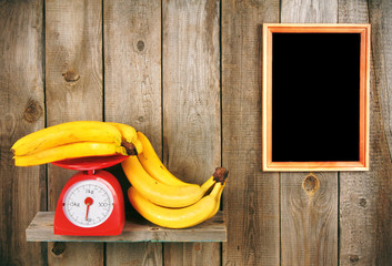 Bananas on scales