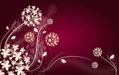 Dark pink floral background