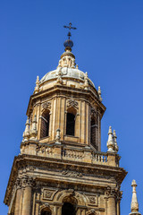 cathedral tower, Jaén, Andalusia, Spain