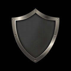 Shield on a black background.