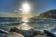 canvas print picture - Meer und Sonne gespiegelt