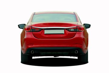 red sedan rear View