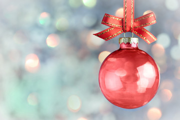 Christmas Decoration - Beautiful bokeh bauble background