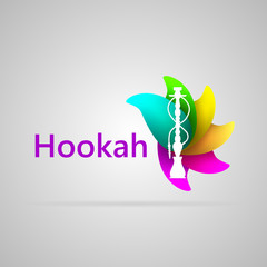 Colorful illustration for hookah