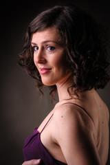 beautiful brunettte woman portrait
