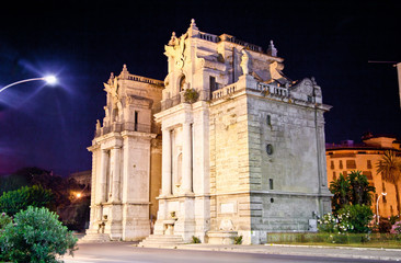 Porta Felice one of main gate of Palermo, Sicily.