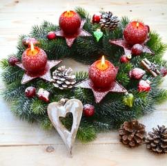 Weihnachtsdekoration - Adventskranz