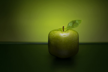 Green cube apple.