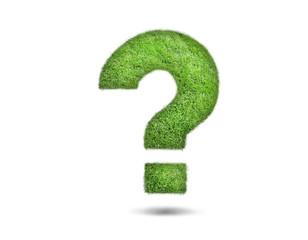 question mark, grass