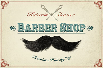 Retro styled design concept for a barber shop