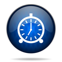 clock internet blue icon