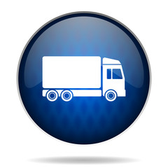 truck internet blue icon
