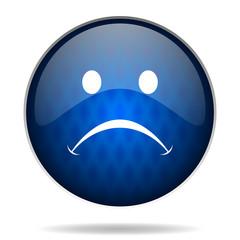 sad internet blue icon