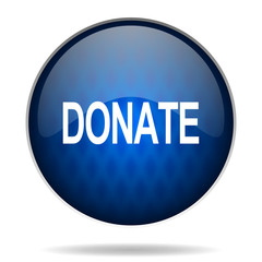 donate internet blue icon