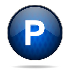 parking internet blue icon