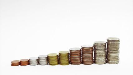 money drop, money coin business finance concept