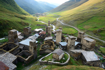 Highest settelement in Europe,Ushguli ,Georgia,unesco heritage