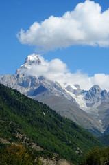 Mountain Ushba,Upper Svaneti, Georgia, Europe