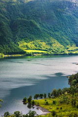 Beautiful Norwegian landscape with water