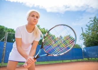 tennis player on focus