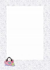 papel de carta pinguim