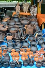 Ceramic ware of handwork at fair of national creativity