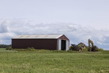 Long Red Barn